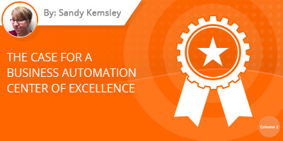 Sandy Kemsley - Business Automation Center of Excellence