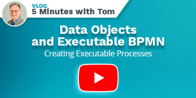 Data objects and executable BPMN - Play Video