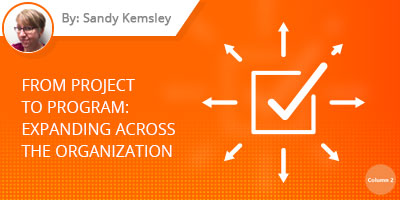 Sandy Kemsley Blog - From project to program: Expanding across the organization