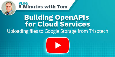 Tom DeBevoise 5 minutes Vlog - Building OpenAPIs for Cloud Services
