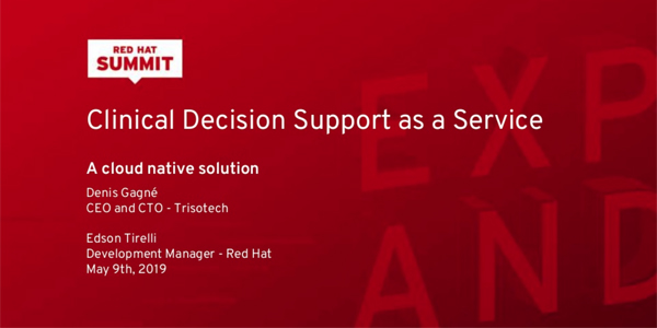 Red Hat Presentation - Clinical Decision Support as a Service