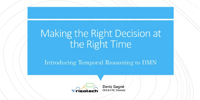 Taking the Right Decision at the Right Time presentation