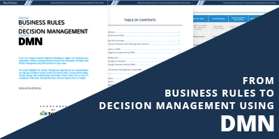 From Business Rules to Decision Management using DMN