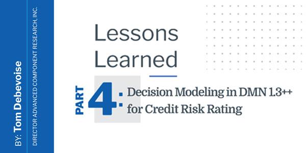 Decision Modeling in DMN 1.3++ for Credit Risk Rating