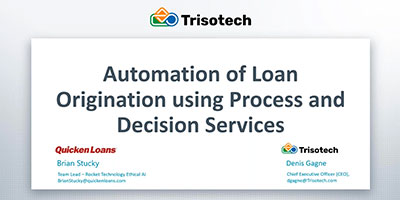 Automation of Loan Origination using Process and Decision Services webinar
